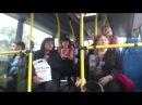 Девушка заткнула в автобусе русских шовинисток