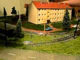 Трамвайный макет в действии. Tatra T4 and Gotha T57-B57 on the route!