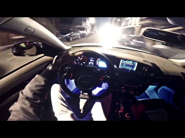 Audi A4 2.7 V6 TDI vs. Bike   Diesel Power   Brutal Sound   EAR GASM!