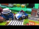 Мультфильм из Игрушечных Машинок Робокар Поли - игрушечная автомойка. Robocar Poli Car Wash Playset