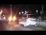 Дтп Днепропетровск Новый Мост 24.12.2015/Момент аварии снятый на регистратор.