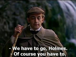 Приключения Шерлока Холмса и доктора Ватсона с английскими субтитрами. Смертельная схватка.