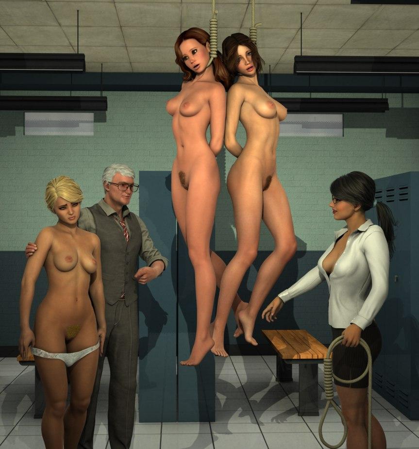 Удушение и казнь женщин порно
