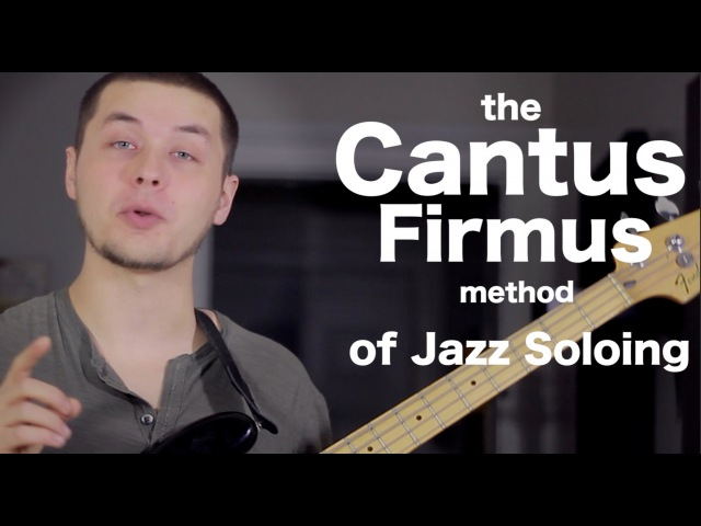 Cool jazz soloing technique - the Cantus Firmus Method [ AN's Bass Lessons 20 ]