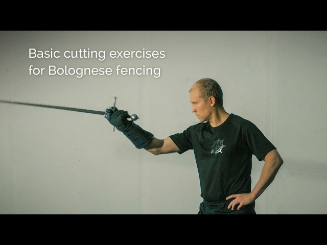 Cutting exercises for Bolognese sidesword