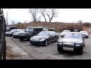Rolls-Royce Ghost,Ferrari California and Porsche 997 Turbo TechArt in Kyiv