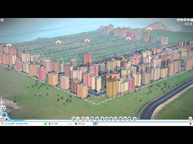 Simcity 5 - 1.3 million Population, No water, power, or services! 0% taxes!