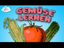 Gemüse Lernvideo für Kinder und Kleinkinder. Lebensmittel - Gemüsesorten lernen (deutsch)