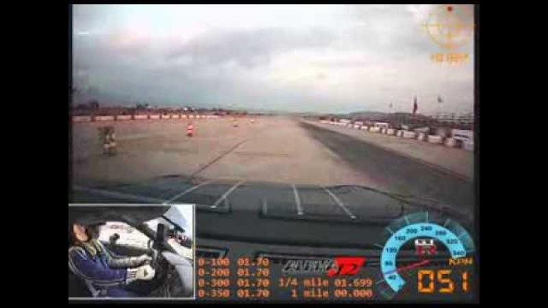 GT-R AMS Alpha 12 Turbo Drive 1700 hp - Unlim 500 in Tympaki, Crete, Greece - NOT THE BEST RACE!
