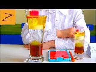 КРУТОЙ ЭКСПЕРИМЕНТ С ВОДОЙ | Смешиваем жидкости | science experiment for kids