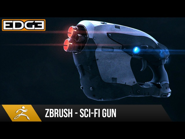 Zbrush 4R7 Tutorial - Hard Surface Techniques 2 - Sci-Fi Gun