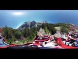 Панорама 360° Американские горки, эмоции, экстрим, страх, драйв в Видео 360° Виртуальная реальность