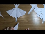 СНЕЖИНКА - БАЛЕРИНКА из бумаги НОВОГОДНИЕ ПОДЕЛКИ своими руками [HD, 720p]
