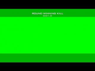 MW2 Round Winning Kill Overlay Greenscreen