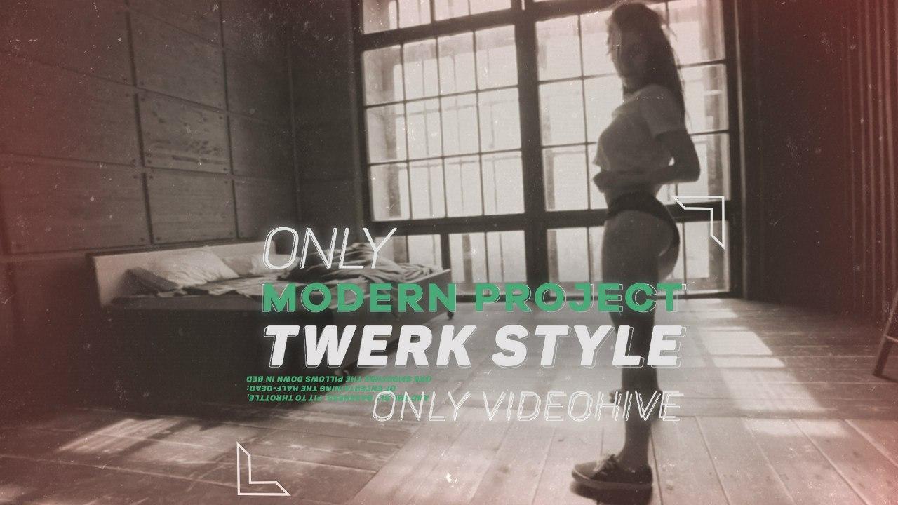 体育运动宣传片美女教练健身动感剪辑AE模板 Videohive Twerk Intro