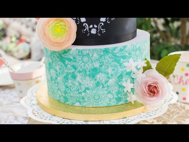 Cómo forrar una tarta con papel de azúcar - Tutorial - María Lunarillos | tienda blog