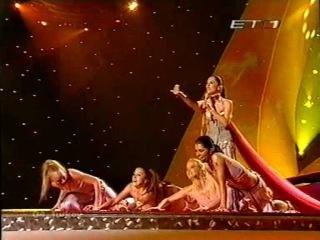 Eurovision 2003 final ΕΤ1 Greek Commentator Dafni Bokota