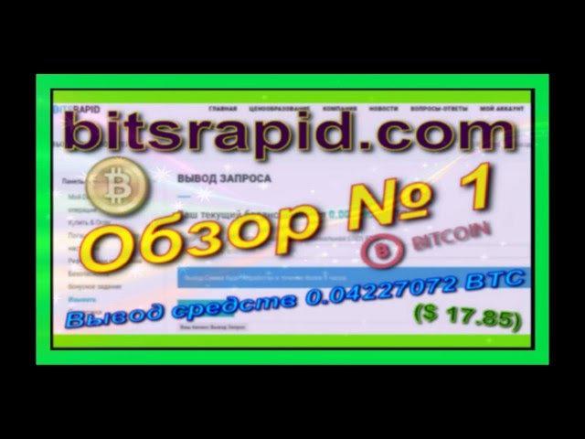 Bitsrapid com Обзор № 1 Вывод средств 0 04227072 BTC $ 17 85