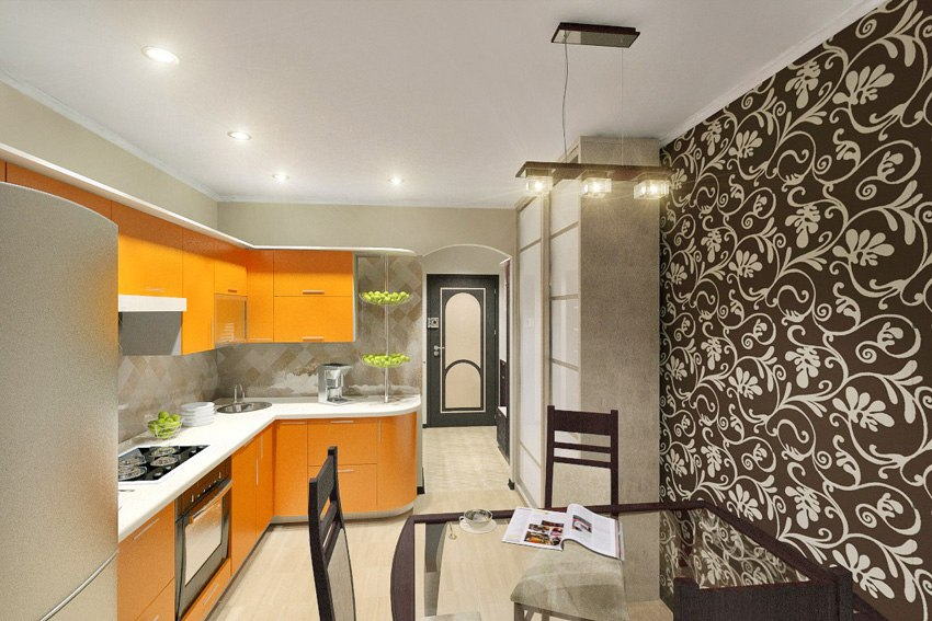 Проект прямоугольной квартиры-студии 25 м.