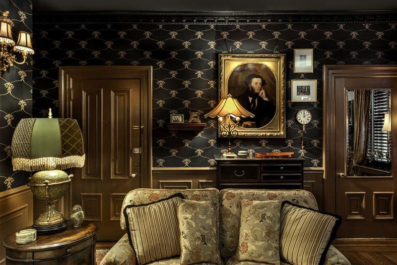 Интерьер студии 37 м в США.