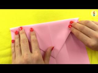 Видео для детей. Маша и подружки! Как сделать самолётик Самолёт из бумаги! ОРИГАМИ для детей
