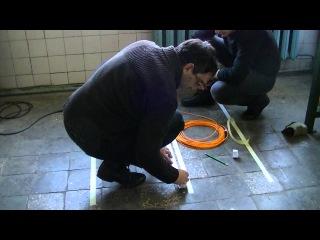 Монтаж тонкого теплого пола woks 10 200 на двусторонний скотч (полная версия)