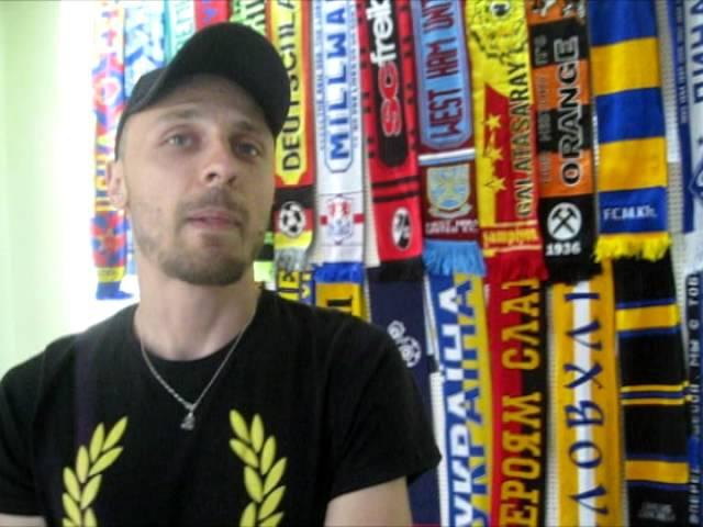 Артем Морозов про виставку футбольної атрибутики на Вільній хаті