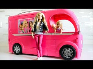 Барби выбирает машину для пикника. Мультик с куклой Барби. Видео для девочек.