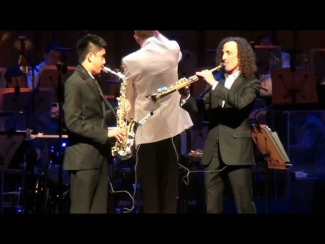 Kenny G and Austin Gatus Over the Rainbow accompanied by Orange Countys Pacific Symphony