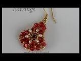 Beaded earrings with Swarovski Crystals. Серьги Из бисера и кристаллов Свар