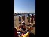 Игра в Бочо на пляже команды Ауди и мерседес!!!!