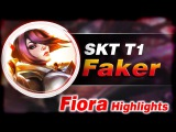 SKT T1 Faker [Fiora] vs [Hecarim] Top - Highlights   League of Legends