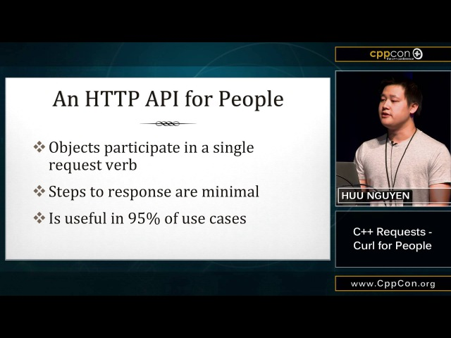 CppCon 2015: Huu Nguyen C Requests - Curl for People