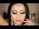 Dramatic Blue & Silver Tutorial | Eid Makeup Look