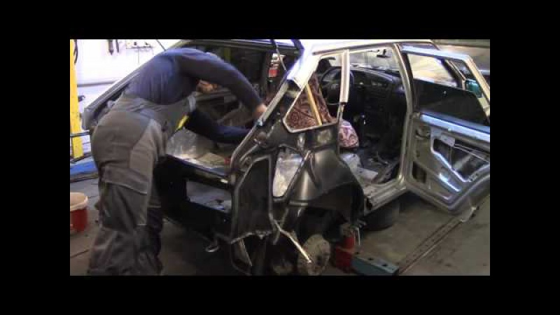 Кузовной ремонт. ВАЗ 2114, меняем заднее крыло2. Body repair.