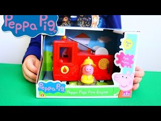 Игрушки Свинка Пеппа   Свинка Пеппа набор Пожарная Машина   peppa pig fire engine