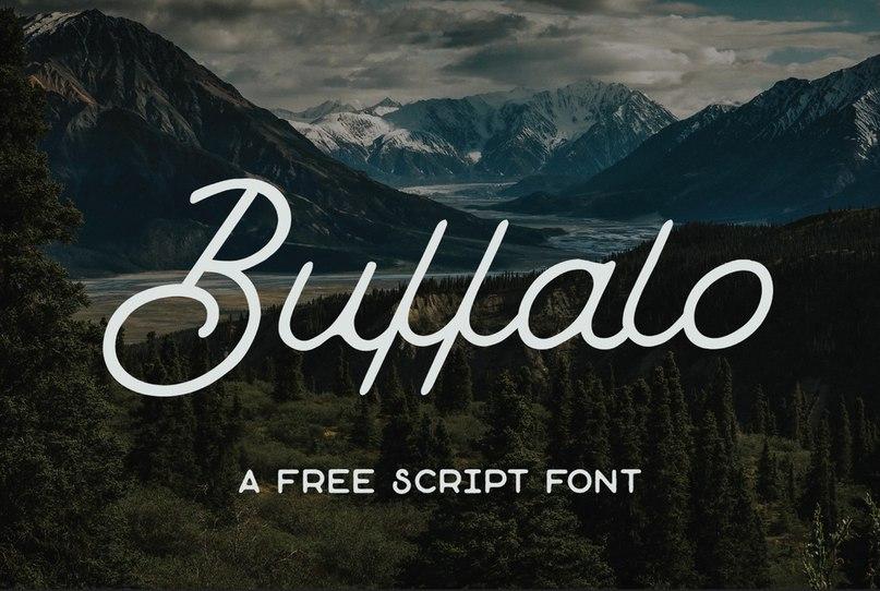 Buffalo Script шрифт скачать бесплатно