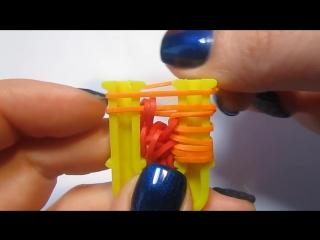 браслет ЧЕШУЯ ДРАКОНА из резинок на рогатке без станка - Dragon Scale Bracelet Rainbow Loom