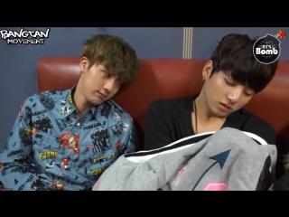 RUS SUBBANGTAN BOMB Sleeping Baby bothered with Jin