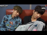 [RUS SUB][BANGTAN BOMB] Sleeping Baby bothered with Jin
