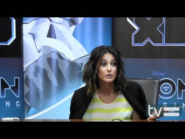 Emmanuelle Chriqui Interview - TRON: Uprising (Disney XD)