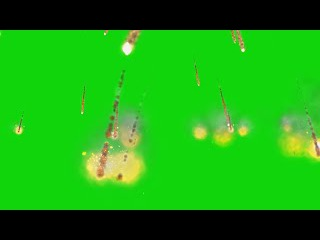 Chuva de Meteoros #1 - Meteor Shower #1 [Fundo Verde - Green Screen]