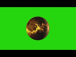 Planeta Alien #1 - Alien Planet #1 [Fundo Verde - Green Screen]