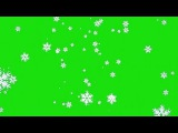Neve Caindo #1 - Snow Falling #1 [Fundo Verde - Green Screen]