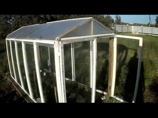 Как построить парник из оконных рам? How to build a hotbed of window frames