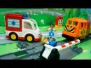 Мультики для детей Игры на железной дороге.Скорая помощь и Пожарная машина в вид...