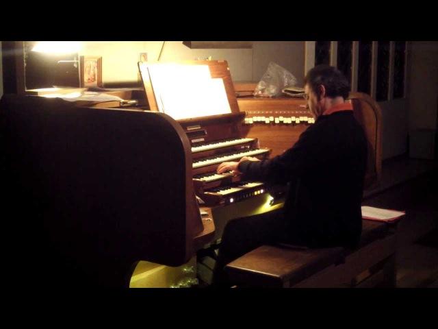 Ночная репетиция Хуана Парадель Соле (Ватикан) - Бах. Прелюдия ми-бемоль мажор