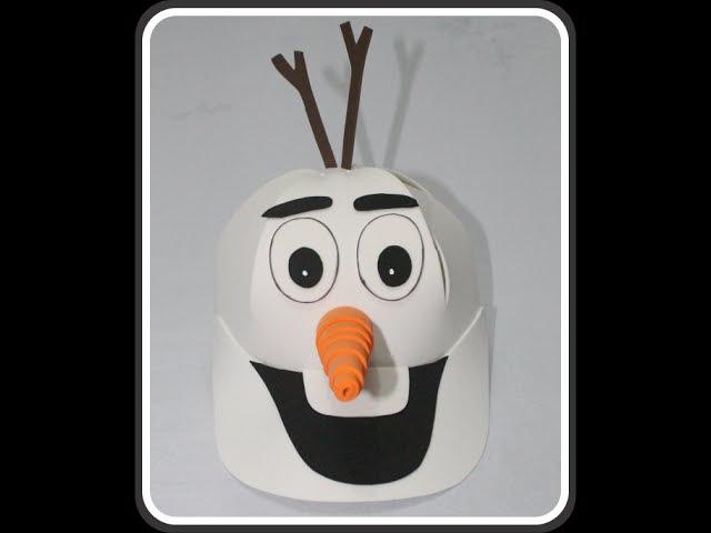 Como fazer boné do Olaf em EVA