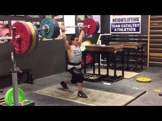 John Downey Clean & Jerk 162kg at 85kg Bodyweight