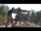 Попадание по брошенному вертолету Ми-8 ВКС РФ в Сирии